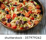 close up of rustic italian... | Shutterstock . vector #357979262