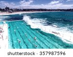 Beach Scene  Rock Swimming...