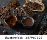 dark chocolate bars | Shutterstock . vector #357987926
