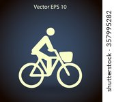 flat cyclist icon | Shutterstock .eps vector #357995282