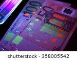 euro banknotes testing.         ... | Shutterstock . vector #358005542