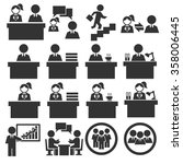 office worker icon set | Shutterstock .eps vector #358006445
