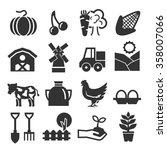 farm icon set | Shutterstock .eps vector #358007066