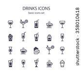drinks icons. | Shutterstock .eps vector #358010618