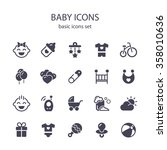 baby icons. | Shutterstock .eps vector #358010636