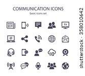 communication icons. | Shutterstock .eps vector #358010642