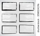 vector set of black grunge...   Shutterstock .eps vector #358024196