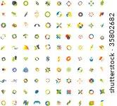 100 design elements   Shutterstock .eps vector #35802682