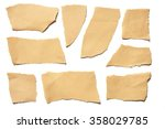 collection real brown paper... | Shutterstock . vector #358029785