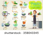 style vegetables are cooking ... | Shutterstock .eps vector #358043345