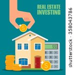 property investment concept.... | Shutterstock .eps vector #358043786