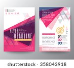 abstract triangle shape poster... | Shutterstock .eps vector #358043918