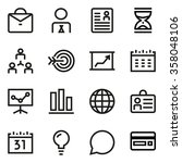 business line icon set. pixel... | Shutterstock .eps vector #358048106