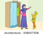 Cartoon Illustration Of Muslim...