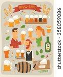 brew beer   Shutterstock .eps vector #358059086