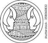 zodiac sign gemini. vector... | Shutterstock .eps vector #358060832
