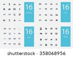 stylish set of 4 themes and... | Shutterstock .eps vector #358068956