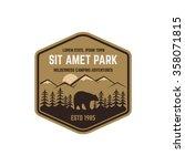 national park vintage badge....   Shutterstock .eps vector #358071815