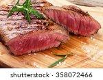 grilled beef steak with...   Shutterstock . vector #358072466