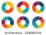 set of circular puzzle
