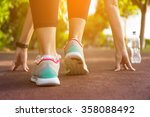 fitness woman training and... | Shutterstock . vector #358088492