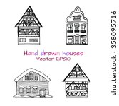 Hand Drawn Set Of  Sketch Of...