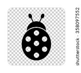 ladybug    black vector icon | Shutterstock .eps vector #358097552