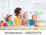 Mother And Children Painting...