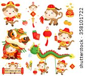 chinese new year monkey year... | Shutterstock .eps vector #358101722