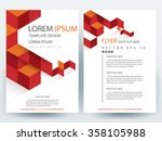 abstract vector modern flyers... | Shutterstock .eps vector #358105988