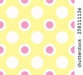 Two Color White And Pink Polka...