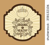 vegetarian food menu design  | Shutterstock .eps vector #358132106
