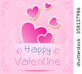 valentines card with text happy ... | Shutterstock .eps vector #358137986