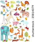 animals set | Shutterstock .eps vector #35814079