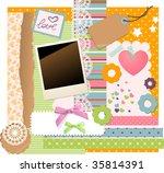 a lot of vector scrapbooking... | Shutterstock .eps vector #35814391
