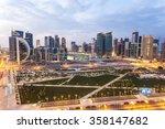doha  qatar   nov 20  view over ... | Shutterstock . vector #358147682