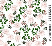 floral pattern in vector | Shutterstock .eps vector #358152098