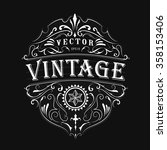 antique label typography... | Shutterstock .eps vector #358153406