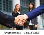 business handshake and business ... | Shutterstock . vector #358153868