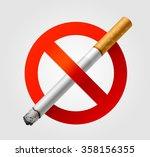 no smoking icon   Shutterstock .eps vector #358156355
