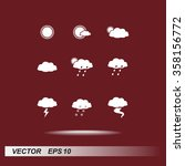 weather sign icons  vector... | Shutterstock .eps vector #358156772
