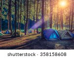 Camping And Tent Under The Pin...
