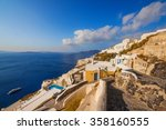 oia village in the morning... | Shutterstock . vector #358160555
