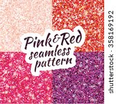 pink  purple  red sparkles... | Shutterstock .eps vector #358169192