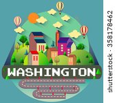 washington   city vector... | Shutterstock .eps vector #358178462