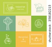 vector set of design elements.... | Shutterstock .eps vector #358182215