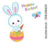 happy easter. cute easter bunny ... | Shutterstock . vector #358188605