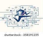 global success. business... | Shutterstock .eps vector #358191155