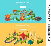 amusement park 2 isometric... | Shutterstock .eps vector #358206842