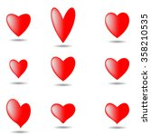 hearts set for valentine vector ... | Shutterstock .eps vector #358210535